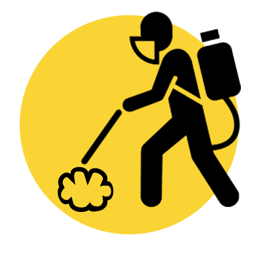 Disinfection Services Yellow And Black Graphic
