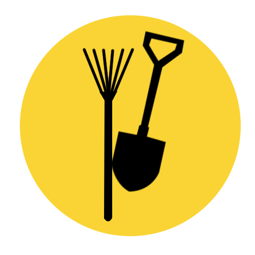Gardening Services Yellow And Black Graphic