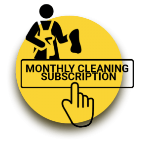 Monthly Cleaning Subscription Graphic