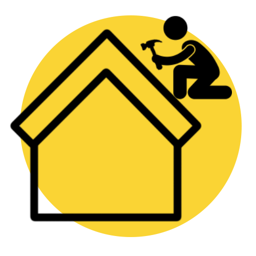 Roof Repair Black And Yellow Graphic