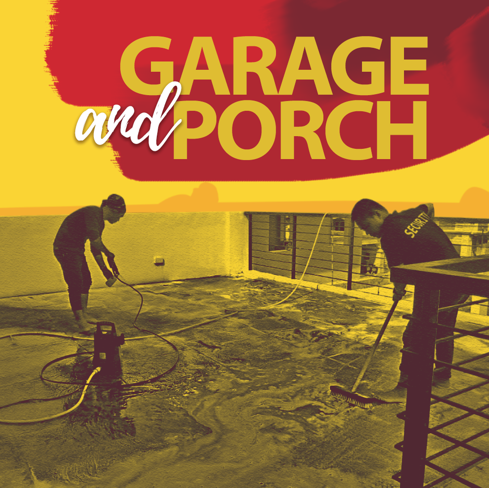Garage and Porch Cleaning Services Hero Image